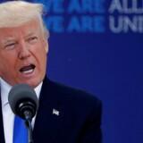 USAs præsident, Donald Trump, ved et tidligere NATO-topmøde i Bruxelles.