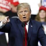 Donald Trump holdt natten til søndag en tale i delstaten Pennsylvania. Her afslørede præsidenten sit nye slogan for valgkampen i 2020.