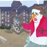 Hos Alternatives medie er statsminister Lars Løkke Rasmussen (V) tegnet med en fadøl i hånden. Du kan se hele billedet i artiklen. Illustration er tegnet af Mathias Rølle, adavur.com.