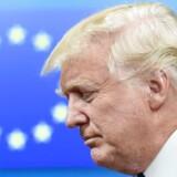 USAs præsident, Donald Trump, tog søndag et verbalt opgør med det historiske forhold mellem EU og USA. EU er ifølge præsidenten en fjende, lød udmeldingen, men det skal man ikke tillægge nogen særlig værdi, mener Dansk Folkepartis næstformand, Søren Espersen, der kalder det noget »vrøvl«. Arkivfoto.