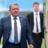 Lars Løkke Rasmussen ankommer til NATO-topmødets anden dag i Bruxelles.