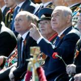 Den russiske præsident Vladimir Putin fik besøg af den israelske premierminister Benjamin Netanyahu ved en militærparade, der markede den 73. årsdag for Sovjetunionens sejr i Anden Verdenskrig.