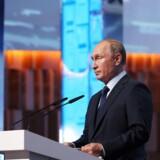 Ruslands præsident ved en tidligere lejlighed under en tale i Moskva. Russia July 18, 2018. Sputnik/Mikhail Klimentyev/Kremlin via REUTERS