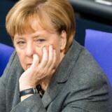 Angela Merkel under en debat i Forbundsdagen. Arkivfoto: Scanpix
