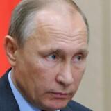 Ruslands præsident, Vladimir Putin, ønsker ikke, at Hillary Clinton bliver valgt på tirsdag. Foto: EPA