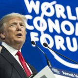 I hovedtalen ved stormødet World Economic Forum i Davos lægger den amerikanske præsident, Donald Trump, ikke skjul på, at han først og fremmest taler for at fremme USA's finansielle interesser. EPA/LAURENT GILLIERON