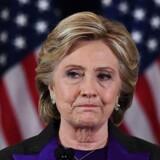 Hillary Clinton vandt i de folkerige stater og fik flste stemmer, men tabte valget.. / AFP PHOTO / JEWEL SAMAD