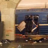 En eksplosion i et metrotog i Skt. Petersborg peger i retning af terror. Kirgisiske myndigheder bekræfter, at den mistænkte er født i Kirgistan, men at han er russisk statsborger. AFP PHOTO / STR / ALTERNATIVE CROP