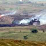 NATO-tanks på øvelse i det nordlige Polen.