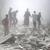 Ruslands bomber i den syriske storby Aleppo har vendt stemningen forud for EU-topmøde. Arkivfoto: REUTERS/Hosam Katan