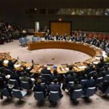 Arkivfoto. Kina undlod at stemme, og Rusland nedlagde veto, da FN's Sikkerhedsråd stemte om mission i Syrien.