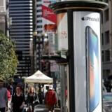 Trods - eller måske netop på grund af - prisen er iPhone X den smartphone, som sikrer sin producent det største overskud. iPhone X sætter sig alene på 35 procent af det globale overskud på smartphoneproduktionen. Arkivfoto: Justin Sullivan, Getty Images/AFP/Scanpix