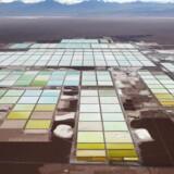 Et område i det nordlige Chile hvor Soquimich (SQM) bearbejder litium.