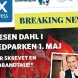 Torsdag har gratisavisen metroXpress en falsk nyhed på et omslag om forsiden for at sætte fokus på selvsamme fænomen. Free/Metroxpress