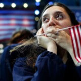 Anklageskriftet mod de 13 russere er 37 sider langt. Her billede fra valgdagen i USA. Personen på billedet er ikke en af de tiltalte.