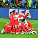 Englands sejr over Colombia blev skyllet ned til glæde for blandt andre Carlsberg