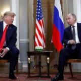 USAs præsident, Donald Trump, og Ruslands præsident, Vladimir Putin, under deres møde i Helsinki, Finland, den 16. juli 2018.