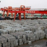Et aluminiumlager i Wuxi i den kinesiske Jiangsu provins