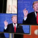 Republikanernes Donald Trump gentog natten til torsdag sin påstand om, at valget til november bliver manipuleret. Reuters/Jim Urquhart