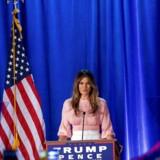 Arkivfoto. Melania Trump har klog af skade holdt sig væk fra talerstolen siden Republikanernes konvent,lige ind til torsdag aften dansk tid, hvor hun holdt en tale om kvinder.