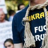 Ukrainske demonstranter kræver indgreb mod den vildtvoksende korruption i det store østeuropæiske land.