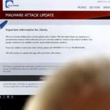 Arkivfoto: Den internationale advokatvirksomhed DLA Piper blev ramt af et cyberangreb i sommeren 2017. Angrebet blev siden døbt 'NotPetya'. EPA/BARBARA WALTON