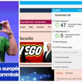 Margrethe Vestager, som er EUs konkurrencekommissær, er flittig bruger af nettet på sin telefon og afprøver nu en ny, tysk internetbrowser, Cliqz, som ved hvert besøg fanger og fortæller, hvor mange gange ens personlige data ville blive sendt videre, hvis ikke det indbyggede filter var slået til. Her har vi besøgt Business.dk med Cliqz. Arkivfoto: Emmanuel Dunand, AFP/Scanpix