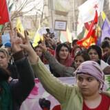 Irakiske kurdere demonstrerer mod Iraks militær i den nordlige kurdiske by Sulaimaniyah. Scanpix/Delil Souleiman, Shwan Mohammed