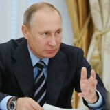 Vladimir Putin under et møde i Kreml.