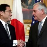 Akrivfoto: Den nyudnævnte amerikanske udenrigsminister, Rex Tillerson, bliver kastet ud på de bonede gulve, når han torsdag og fredag skal møde 19 ledere fra verdens største økonomier.