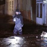 Forhøjet vandstand i Dragør, onsdag aften.