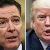 James Comey og Donald Trump. AFP PHOTO /  Nicholas Kamm