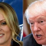 Afsløringen af dagbogen kommer på et ubelejligt tidspunkt for Donald Trump - han er i forvejen under beskydning for sin påståede affære med pornostjernen Stormy Daniels (til venstre). Trumps advokat erkendte i denne uge at have »faciliteret« 130.000 dollars til Stormy Daniels.