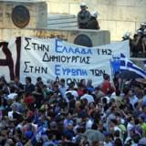 Demonstrationer i forbindelse med forlængelse af græsk støtteprogram i 2015, og nye økonomiske krav, hvis Grækenland skulle opnå gældssanering.
