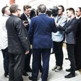 Arkivfoto: Finansminister Claus Hjort Frederiksen svarer på spørgsmål fra journalister på Christiansborg