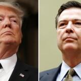 Præsident Donald Trump fyring af FBI-direktør James Comey kom uden varsel. REUTERS/Jim Lo Scalzo/Pool, Gary Cameron/File Photo
