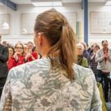 Mette Frederiksen holder sin 1. maj-tale i Tapeten i Ballerup