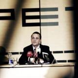 """(ARKIV) Tidligere PET-chef Jakob Scharf, den 27. oktober 2009. Regeringen og PET ønsker nye regler om PETs tavshedspligt på grund af bogen """"Syv år for PET"""", der handler om tidligere PET-chef Jakob Scharfs tid i efterretningstjenesten."""