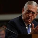 General James Mattis, som Trump har peget på som sin foretrukne forsvarsminister, under torsdagens høring i Senatet, hvor de kommende ministre bliver udspurgt af senatorerne inden den endelige godkendelse. Reuters/Jonathan Ernst