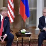 Ruslands præsident, Vladimir Putin, og USAs præsident, Donald Trump, mødtes i Finland den 16. juli 2018. Sputnik/Alexei Nikolsky/Kremlin via REUTERS ATTENTION EDITORS - THIS IMAGE WAS PROVIDED BY A THIRD PARTY.
