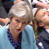 Premierminister Theresa May har sværere og sværere ved at holde en eksplosiv strid nede i Det Konservative Parti, hvor både EU-kritikere og EU-tilhængere anklager hende for at tale med to tunger.