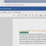 Topbåndet i Word vil snart i onlineudgaven Office 365 komme i nyt og slankere design - men man kan stadig vælge den traditionelle, mere pladskrævende version. Foto: Microsoft