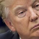 Trump er som aldrig tidligere presset på sin politiske kurs over for Rusland. / AFP PHOTO / SAUL LOEB
