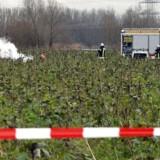 Redningsfolk ved ulykkesstedet uden for Philippsburg.