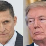 Efter sin valgsejr i november 2016 udnævnte Trump general Michael Flynn (til venstre) som sin sikkerhedspolitiske rådgiver. I ventetiden mellem valget og tiltrædelsen brugte Flynn bl.a. tiden på at pusle med en hemmelig kommandooperation, hvor han og hans søn formedelst 15 mio. dollars skulle bortføre en tyrkisk kritiker, oplyser kilder tæt på den uafhængige undersøger, Robert Mueller.