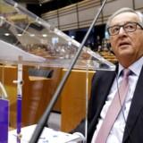 EU-kommissionsformand, Jean-Claude Juncker, præsenterede onsdag i EU-parlamentet fem veje, som de resterende 27 EU-medlemslande kan bevæge sig ud ad, når Storbritannien har meldt sig ud. Foto: Reuters