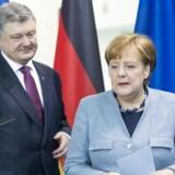 Petro Poroshenko og Angela Merkel.