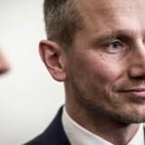 Finansminister Kristian Jensen (V) under Doorstep i Finansministeriet om medielicensen, fredag den 16. marts 2018.