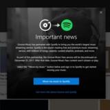 Microsoft lukker fra nytår for, at Groove Music, som er en fast del af Windows 10, kan bruges til at streame musik - men den vil fortsat være almindelig musikafspiller. I stedet er der indgået aftale med Spotify. Foto: Microsoft