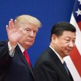 Nye tiltag i den verserende handelskrig mellem USA og Kina vækker bekymring hos Dansk Industri. Arkivfoto: NICOLAS ASFOURI/Ritzau Scanpix.